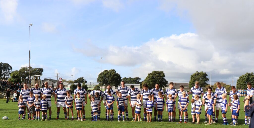 Tukapa player showing respect for Old Timers