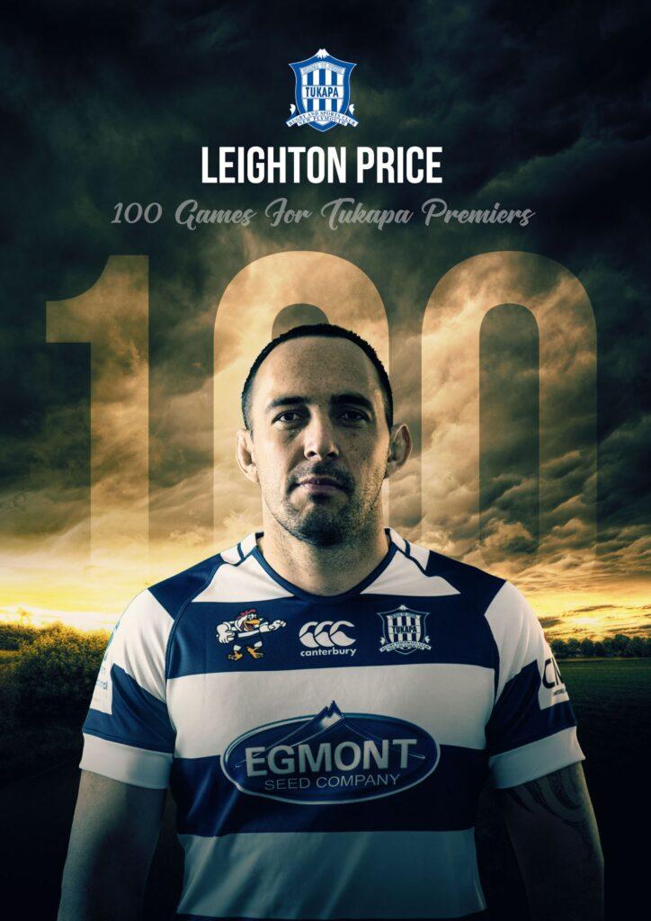 Leighton Price 100 Games for Tukapa