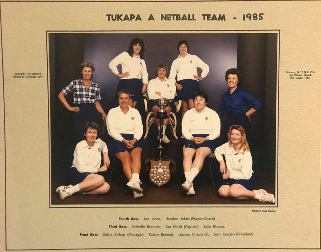 Tukapa A Netball Team 1985