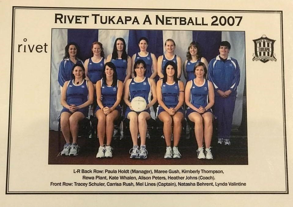 Rivet Tukapa A Netball Team 2007